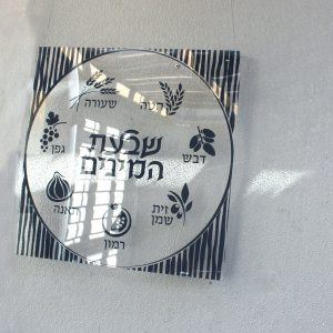 Lucite Sukkot Decoration - Shivtei Yisroel White