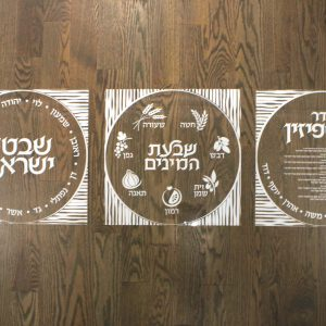 Lucite Sukkot Decoration - Shivtei Yisroel Gray