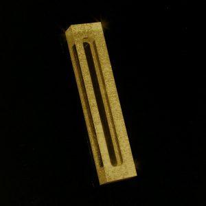 """Lucite Mizrach 5"""" Gold Shimmer"""
