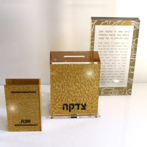 Lucite Modeh Ani Gold Shimmer No