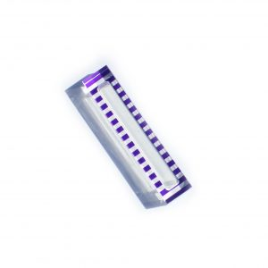 "Lucite Stripe Mezuzah Case 5"" Blue"