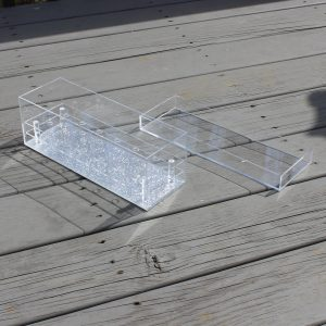 Lucite Flower Box - 9 Rose Marble
