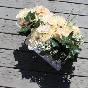 Lucite Flower Box - 9 Rose Gold Mirror