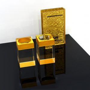 Crystal Menorah Gold